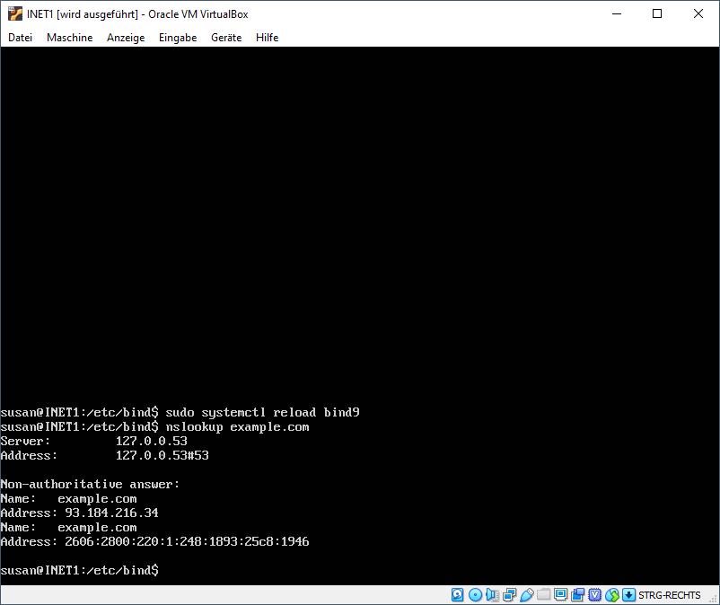 nslookup example.com INET1