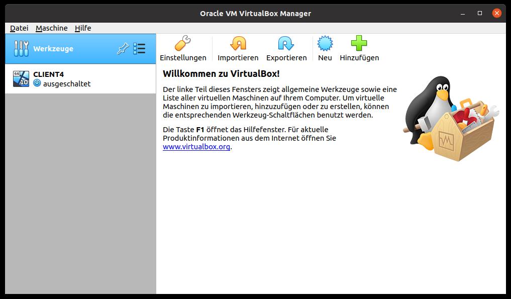 VirtualBox – Virtuelle Maschine erzeugen